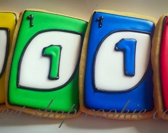 2 dozen Uno Card Cookies