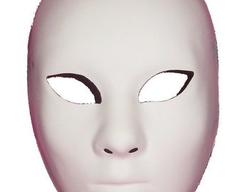 "Blank Masquerade Mask ""Volto"" face for decorating"