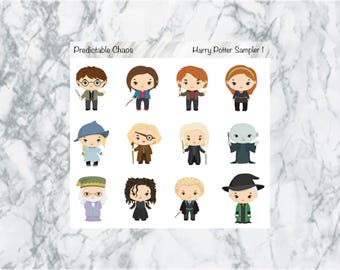 Harry Potter Character Stickers, planner stickers