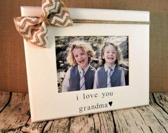 Grandma gift from grandson granddaughter, Mothers day gift for grandma frame 5 x 7