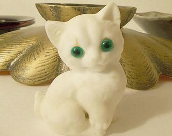 Cute Little White Cat Figurine