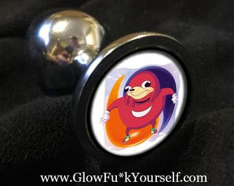 Guardian of the FORBIDDEN FRUIT Butt Plug! stainless steel or silicone ride the tide  Ugandan Knuckles mature gag gift kinky gay fidget tail
