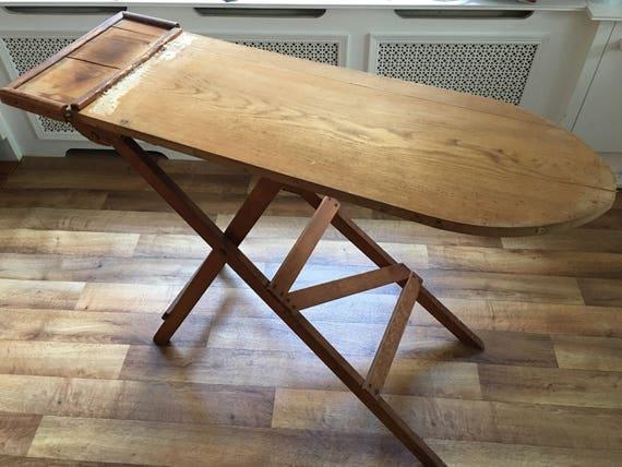 Vintage Art Deco original wooden ironing board