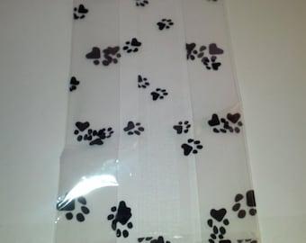 Paw Print cello gift bags (4 for 1 euro)