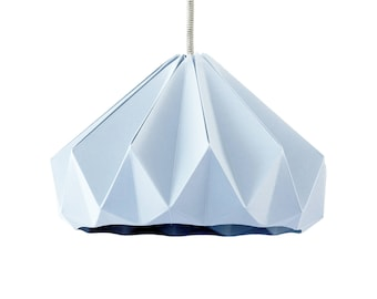 Captivating Origami Lamp Chestnut Pastel Blue