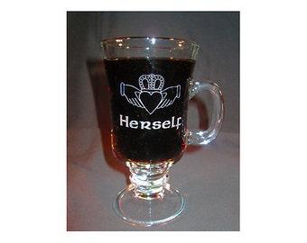 Engraved Coffee Mug - Personalized Large Irish Coffee Mug