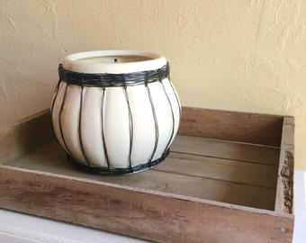 Large Old Wooden Box Wood Box Perfect Tray Unpainted Bohemian BoHo Natural