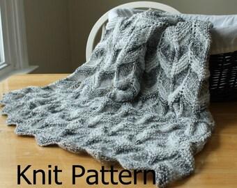 Knit Baby Blanket Pattern, knit chevron baby blanket pattern, baby blanket knit pattern, easy knit blanket pattern, easy knit afghan