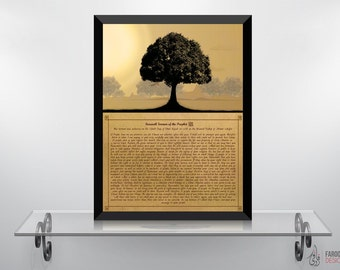 Prophetic Sermon - Islamic Wall Art and Arabic Calligraphy in English Typography   Islamic Decor and Art Prints   Digital Paintings
