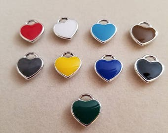 Add A Colored Heart To Your Charm Bracelet