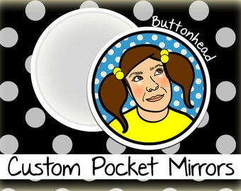 10 Custom Mirrors 2.25 Inch Round