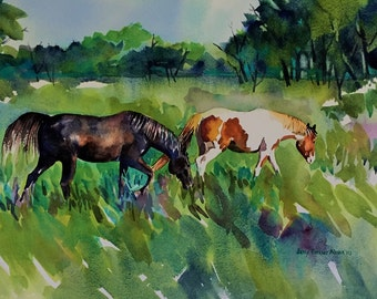 """Giclee Print """"Green Pastures"""""""