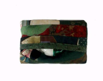travel pocket tissue holder-patchwork