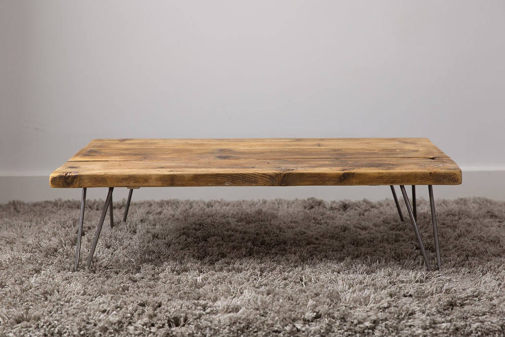 Image of 1000mm Industrial Style Coffee Table made from reclaimed scaffold boards.