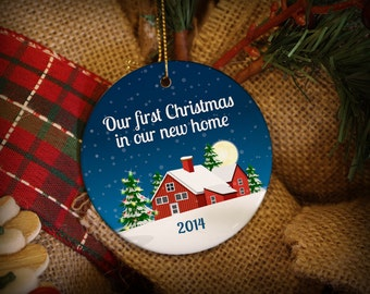 First Christmas In Our New Home Personalized Christmas Ornament!