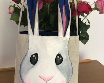 Easter Bunny bag *TOTES ADORBS* Dark blue inner