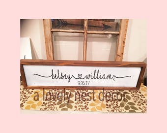 Personalized sign Wedding gift framed sign anniversay gift newlywed gift