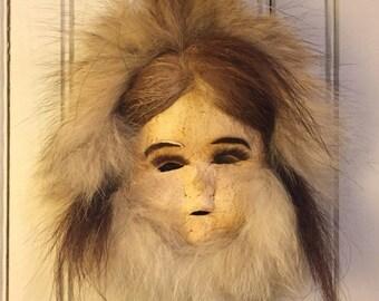 Inuit folk art mask