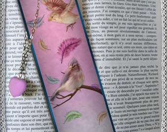 """Laminated bookmarks """"Feathers in the wind"""""""