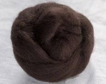 Merino Wool Top 100%, Needle Felting Wool, Wool Roving, Hand Spinning, Cocoa Brown, Merino Wool Felt, High Quality Soft Merino Wool, mw38