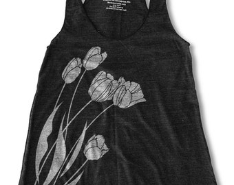Tulip Graphic Print Women's Racerback Tank Top