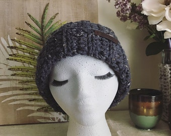 Rustic Blue Slouchy Hat