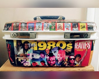Upcycled 1970's Samsonite Brand/Totally 80's Train Case