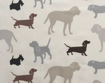 custom baby blanket ~  gray/brown dogs ~ chic couture ~ baby accessories ~ custom made baby blanket from lillybelle designs