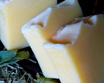 Lemongrass, Homemade Soap, Vegan Soap, Natural Soap, Lemongrass & Eucalyptus, 4.5-5 oz.