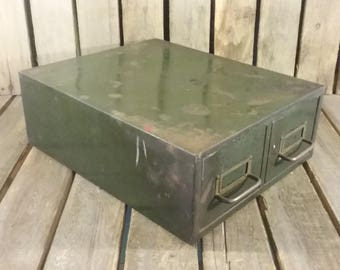 Green File Box, Rusty File Cabinet, Index Cards Box