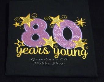 Ladies Women's Milestone Birthday Shirt