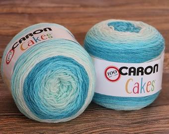 Caron Cakes Yarn - Pastel Faerie Cake - Wool Blend Yarn - Self-striping yarn - Michael's exclusive yarn - Skein of Caron Cake Yarn