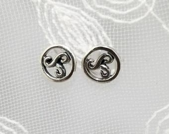 Sterling Silver Unique Irish Celtic Design Post/Stud Earrings  #499