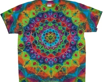 Free Shipping - Handmade Kaleidoscope Tie Dye Shirt