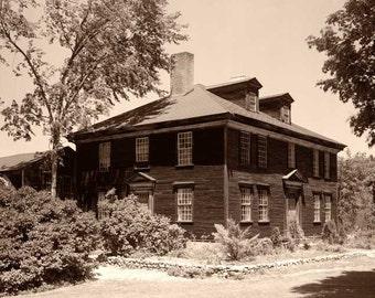 Ocean-Born-Mary House, Route 202 vicinty, Henniker, Merrimack County, NH, Sepia Duotone Print