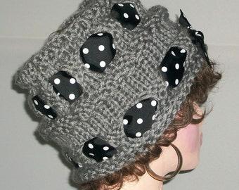 HAT WOMEN KNITTED  Knit Hat   Women Handmade Girls Tube  Cloche Beanie  Head  Cover