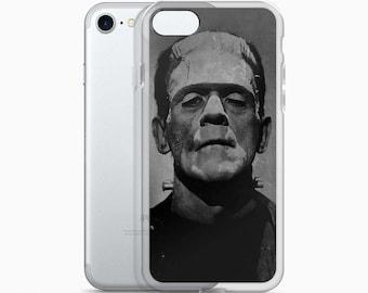 Vintage FRANKENSTEIN Chalkboard iPhone 7 8 X Case, iPhone 7 Plus Case, iPhone 6s case, iPhone 6 plus Cover, Gothic Halloween Horror