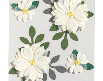 Vanilla Flower Stickers