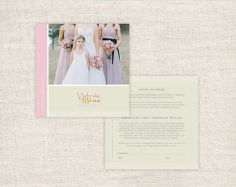 Print Release Template - Photo Marketing - Copyright Agreement for Wedding Photographers - Digital Photoshop Templates - INSTANT DOWNLOAD