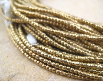 Brass Tiny Heishi Beads From the Villages of Ethiopia! African Metal Beads - Brass Spacers - Wholesale African Beads - Brass Beads 208