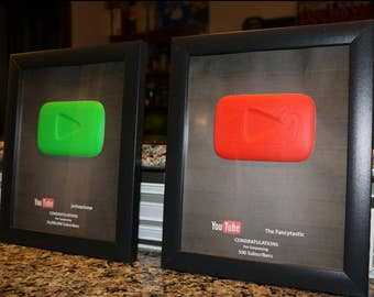 Custom YouTube Play Button Replica - Fancy Play Button