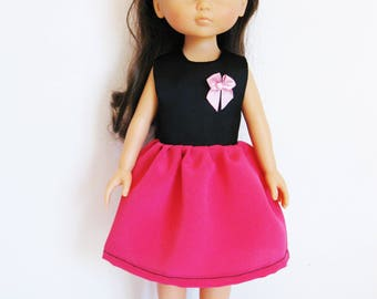 """Handmade Doll Clothes Dress fits 13"""" Corolle Les Cheries Dolls Handcraft 7"""