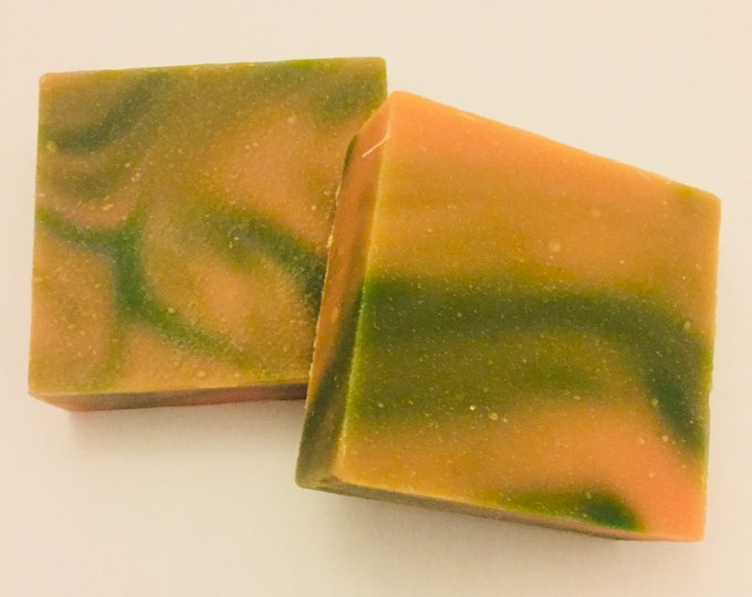 Soap, Handmade Soap, Cold Process Soap, Apple Melon Scented Soap, 5 oz Soap Bars, Soap Gift, Soap Favors, Olive Oil Soap, Coconut Oil Soap