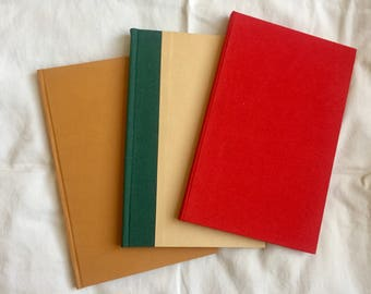 Handbound Hardcover Journal with Multicolored Endpapers
