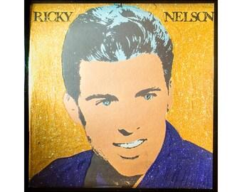 Glittered Ricky Nelson Warhol Album (Yellow)