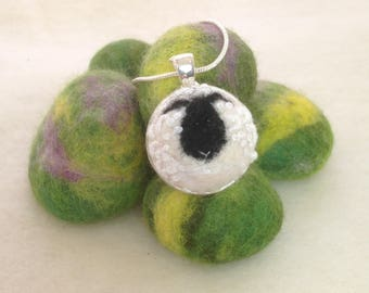 Sheep Necklace, felted