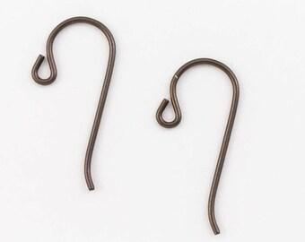 25mm Copper Plated Niobium Shepherd Hook Ear Wire #NFL017
