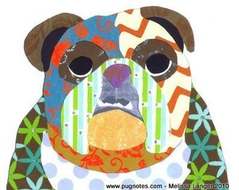 Collage Note Cards - English Bulldog