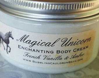 Magical Unicorn Enchanting Body Cream - French Vanilla and Amber - Magical Cream