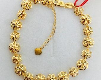 Flowery bracelet 22k solid 916 gold  bracelet